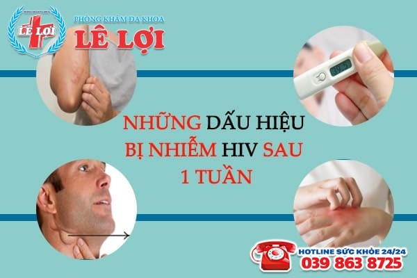 những dấu hiệu bị nhiễm hiv sau 1 tuần